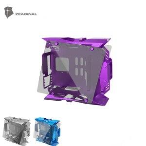 Чехол ZEAGINAL для настольного компьютера, корпус со средней башней для водяного охлаждения, ATX Gamer MOD, чехол, стеклянный чехол для самостоятельн...
