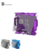 ZEAGINAL Middle Tower Chassis Desktop Computer Case For Water Cooling ATX Gamer MOD Case DIY Glass ZC 22