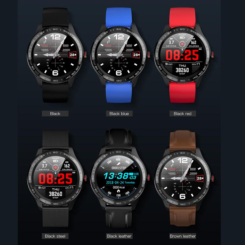 Image 4 - Greentiger ECG PPG L9 Smart Watch IP68 Waterproof Multiple Sports Heart Rate Bluetooth Smartwatch Blood Pressure oxygen VS L5 L7-in Smart Watches from Consumer Electronics