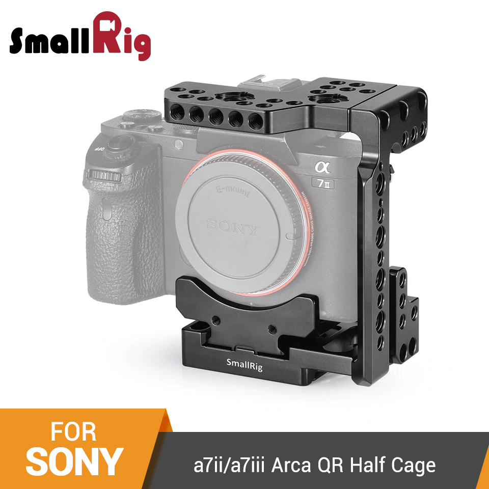 SmallRig A7ii/a7iii Arca QR Half Cage For Sony A7R III/A7 III/A7 II/A7R II/A7SII Camera Cage With Nato Rail Could Shoe - 2238
