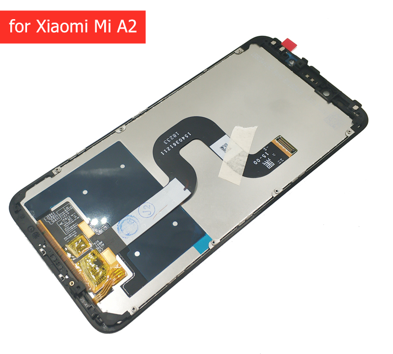 LCD Display for Xiaomi Mi A2 Global/ Mi A2 Lite LCD Display Touch Screen with Frame LCD Display Digitizer 10 Touch Repair Parts