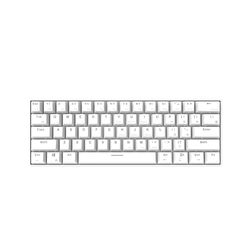 Ajazz i610T Mechanical Keyboard  USB Wireless BT3.0 Dual Mode Gaming Keyboard 61 Keys Monochrome Backlight Office Keyboards