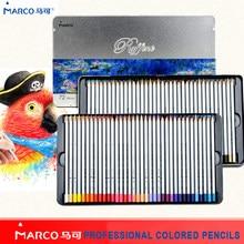 Lápis colorido a óleo profissional de lápis de cor para material escolar marco 24/36/48/72 cores raffina macio não-tóxico lápis de cor