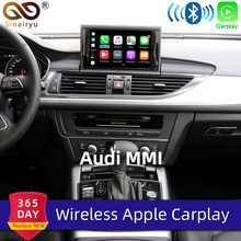 Aftermarket Oem Draadloze Apple Carplay Voor Audi A1 A3 A4 A5 A6 A7 A8 Q2 Q3 Q5 Q7 Mmi Auto play Android Auto Spiegel Reverse Camera(China)