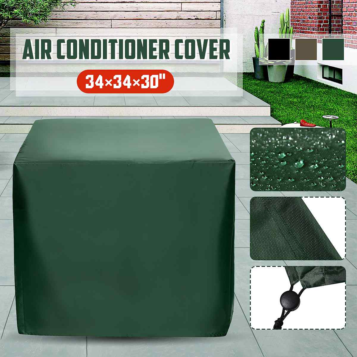 1pcs Outdoor Cover Waterproof Furniture Air Conditioner Sofa Chair Table Cover Garden Patio Beach Protector Rain Snow Dust Cover