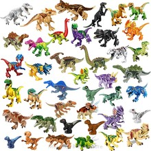 Legoing Jurassic World Dinosaurs Pterosaurs Triceratops Indomirus T-Rex Figures Animal Model Building Blocks Education Kids Toys(China)