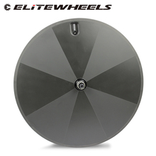 ELITEWHEELS 1050g Super Licht Gewicht Volle Carbon Disc Räder Klammer Tubular Für Rennrad Triathlon Zeit Track TT Bicycl
