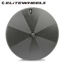 ELITEWHEELS 1050g סופר אור משקל מלא פחמן דיסק הנימוק המכריע Tubular לאופני כביש טריאתלון זמן מסלול TT אופניים