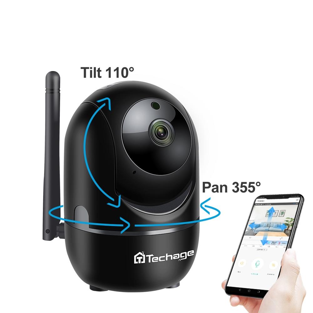 Techage 1080P Full HD Wireless IP Camera Wifi IP CCTV Camera SD Card Wifi Mini Network Video Surveillance Auto Tracking Camera