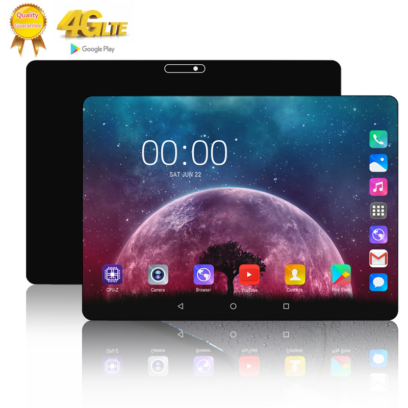 2020 10 Core 6G+128GB Tablet Pc 10.1 Inch Android 9.0 Google Play 3G 4G LTE SIM Unlocked Phone Call Tablets WiFi Bluetooth GPS