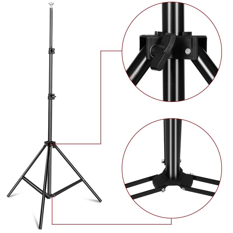 Image 4 - Photography Background Backdrop Stand Support System Kit for Photo Studio Muslin Backdrops, Paper and Canvas with  Carrying Bag-in Background from Consumer Electronics