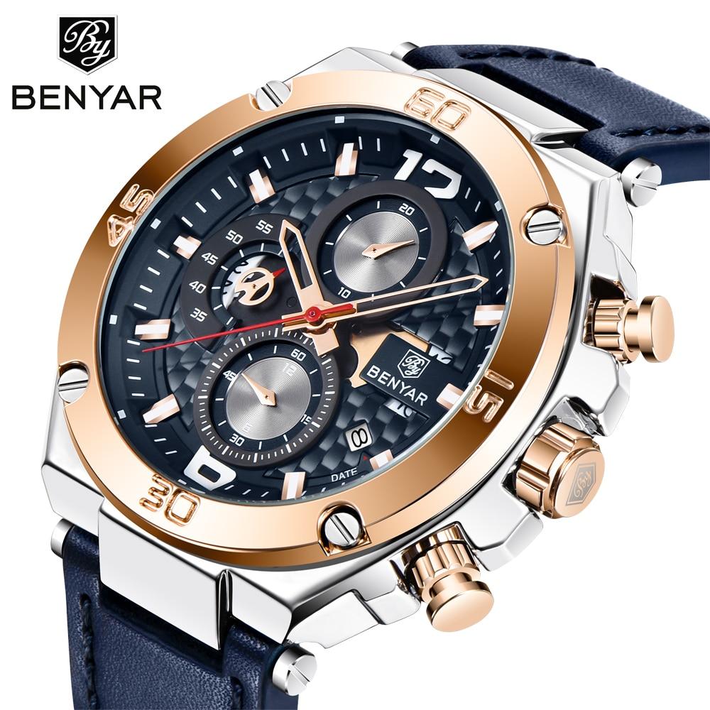 Benyar hot sale 2020 new quartz men's watch night light sports calendar watch men's top luxury brand wristwtch regio mangio 5151