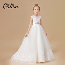Girls Dress Children Party-Suits Lace New Sweet Appliques Costume Clothing Mesh Butterfly