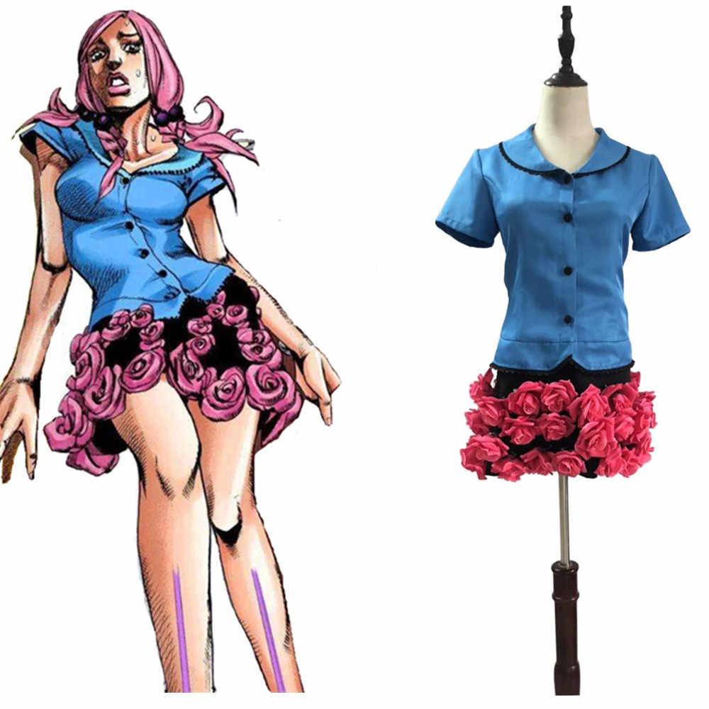 JoJo's Bizarre Adventure Hirose Yasuho Cosplay Costumes    - AliExpress