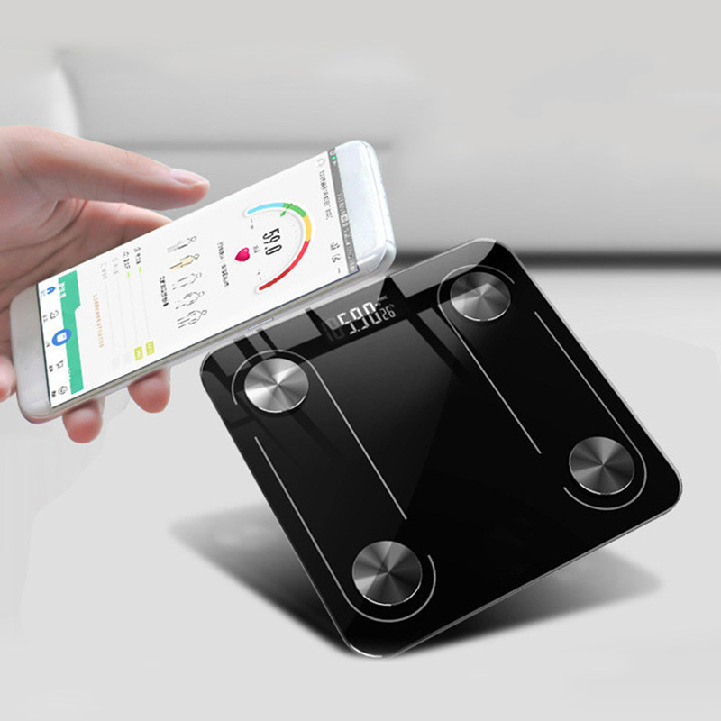 Weighing-Scale Floor-Scales Glass Bluetooth Smart title=