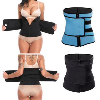 1PC Women Sauna Thermo Shaper Sweat Waist Trainer Belt Slimming Vest Corset Black Blue