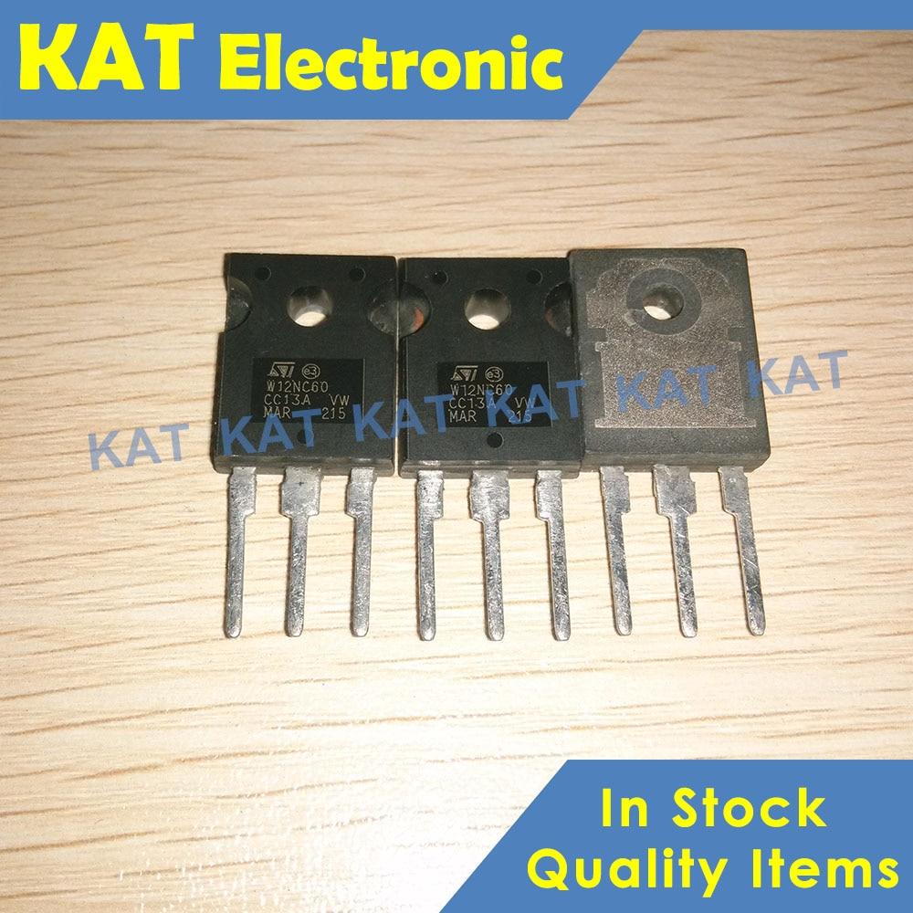 5PCS/Lot STW12NC60 W12NC60 N-CHANNEL 600V - 0.48ohm - 12A TO-247 PowerMeshII MOSFET