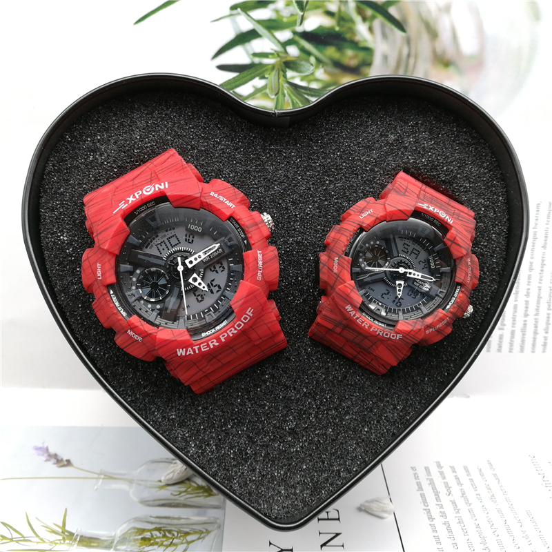 Super Fire Of His-and-hers  Wrist Watch A Pair  Electronics  Girl Student Simple  Tide Multifunction Men's  Waterproof Zipper