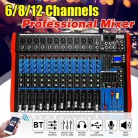 6/8/12 Channel Mixing console mixer audio interface mixer digital bluetooth USB charging Audio mixer HD DJ Player Independent