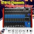 6/8/12 kanaals Mixing console mixer audio interface mixer digitale bluetooth USB opladen Audio mixer HD DJ speler Onafhankelijke