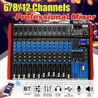 6/8/12 kanal mischpult mixer audio interface mixer digital bluetooth USB lade Audio mixer HD DJ player Unabhängige
