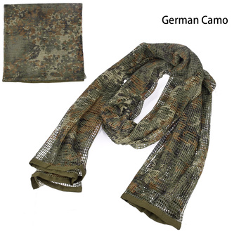 190*90cm Scarf Cotton Military Camouflage Tactical Mesh Scarf Sniper Face Scarf Veil Camping Hunting Multi Purpose Hiking Scarve 2