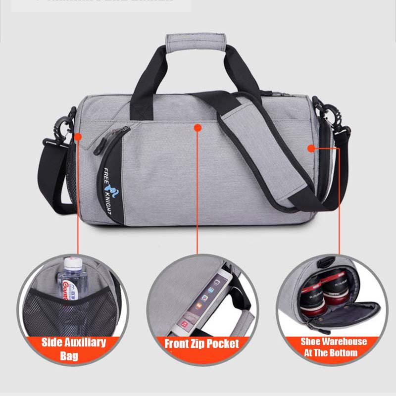Купить с кэшбэком Waterproof Sports Gym Bags, Multifunction Dry Wet Separation Bags, Fitness Training Yoga Shoulder Bag With Shoes Bags 3 Colors