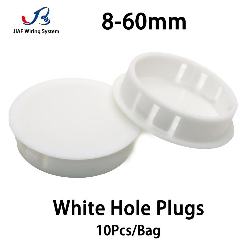 Plastic Plugs Cover Hole Nylon Plugs Dust Caps Flat Head Reserved Hole Plugging Panel Kongsai Table Box Extra Hole White Plug
