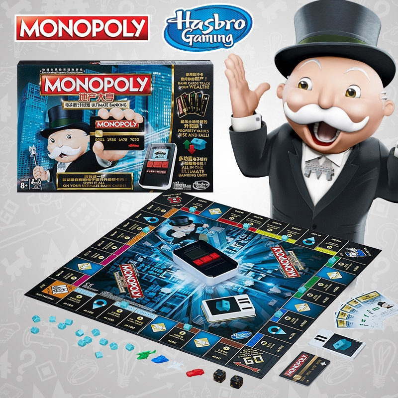 Hasbro Monopoly E-Banking Upgrade Trading Game Play For Adult Family Gaming Education Toy Board Game Chinese Version