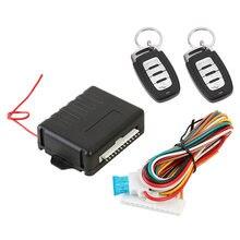 12V universel voiture Auto à distance Central porte serrure Kit automatique sans clé système d'alarme automatique à distance voiture accessoires 410/T208