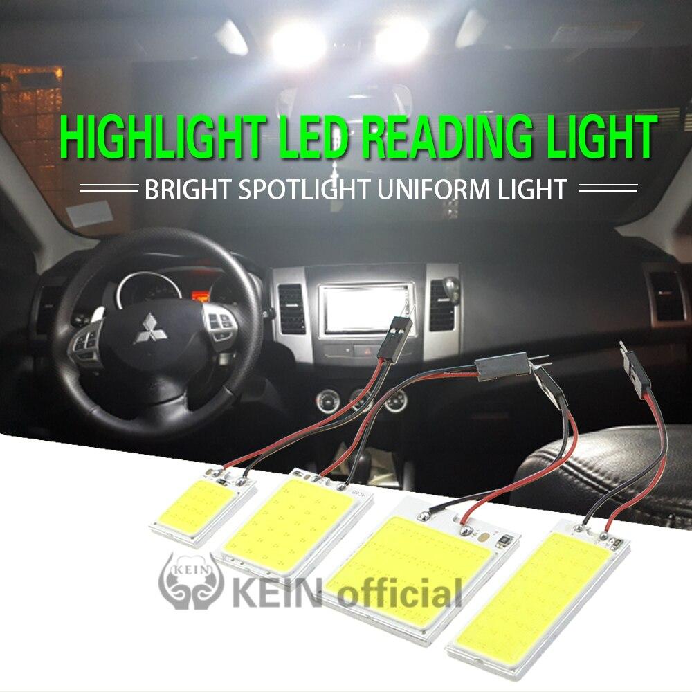 Eixa de led para veículo, 1 peça w5w t10 cob lâmpada para painel interior do veículo c3w c5w c10w ba9s luzes espelhadas do dome