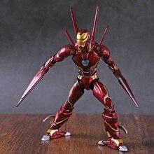 SHF Iron Man Mark L MK 50 Nano Weapon Set PVC Action Figure Collectible Model Toy