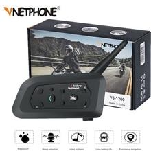 VNETPHONE 1200M 1 adet kablosuz Bluetooth motosiklet kask interkom 6 biniciler interkom kulaklık desteği Mp3 Intercomunicador Moto