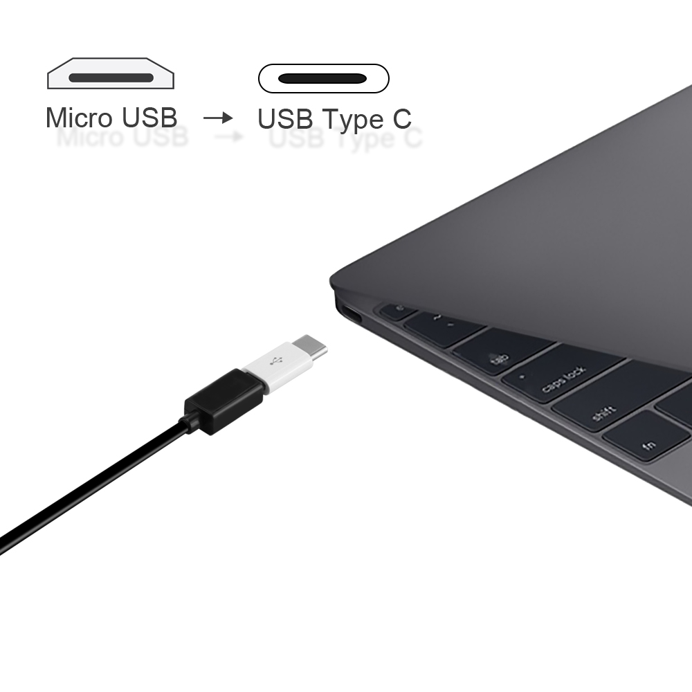 3PCS/LOT Micro Usb Male To Type-c Micro usb To Type C Converter Adapter for Huawei Macbook Oneplus Xiaomi Charging Charger