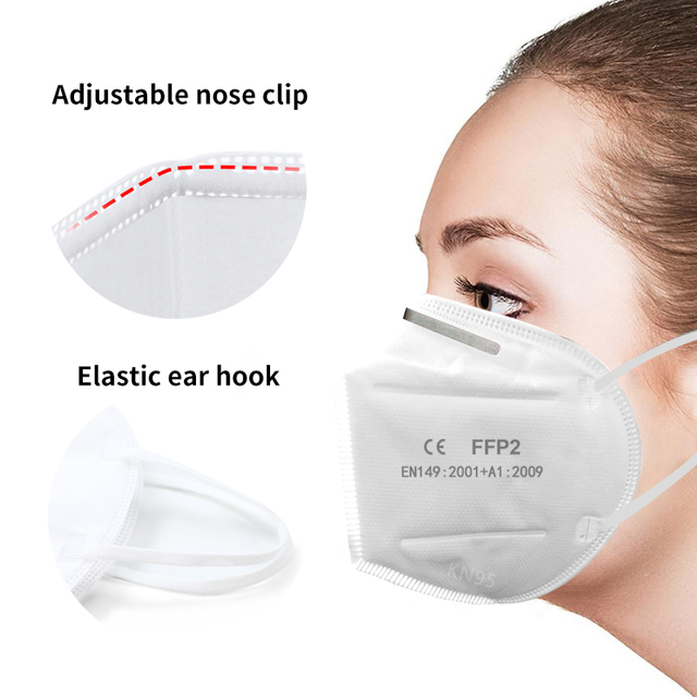 Kn95 Face Masks FFP2 Protective Mask 99% Filtration Anti Flu Mouth Mask Adults Filter Breathing Protective mask N95 1