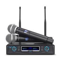 G MARK G120 Draadloze Microfoon Professionele 2 Kanalen Dynamische Handheld Karaoke Party Ktv Podium Gastheer Kerk