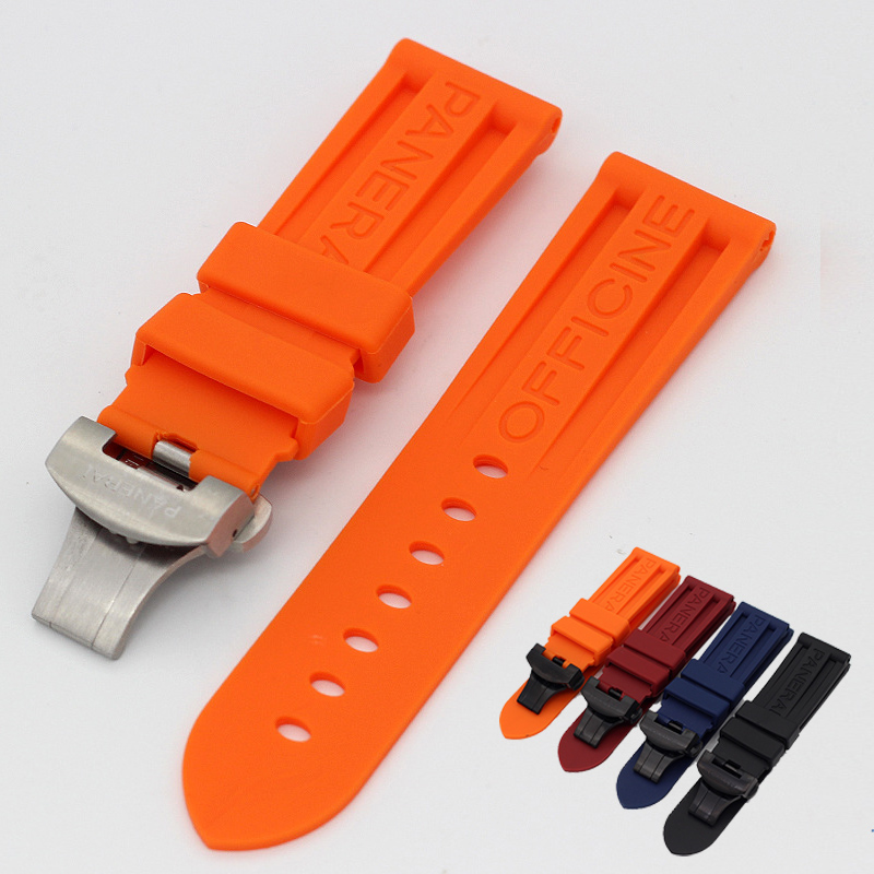 Watch Bracelet for Panerai PAM Silicone Strap Sports Waterproof Wristwatch Band TPU Rubber Silicone Watch Strap 22 24mm()