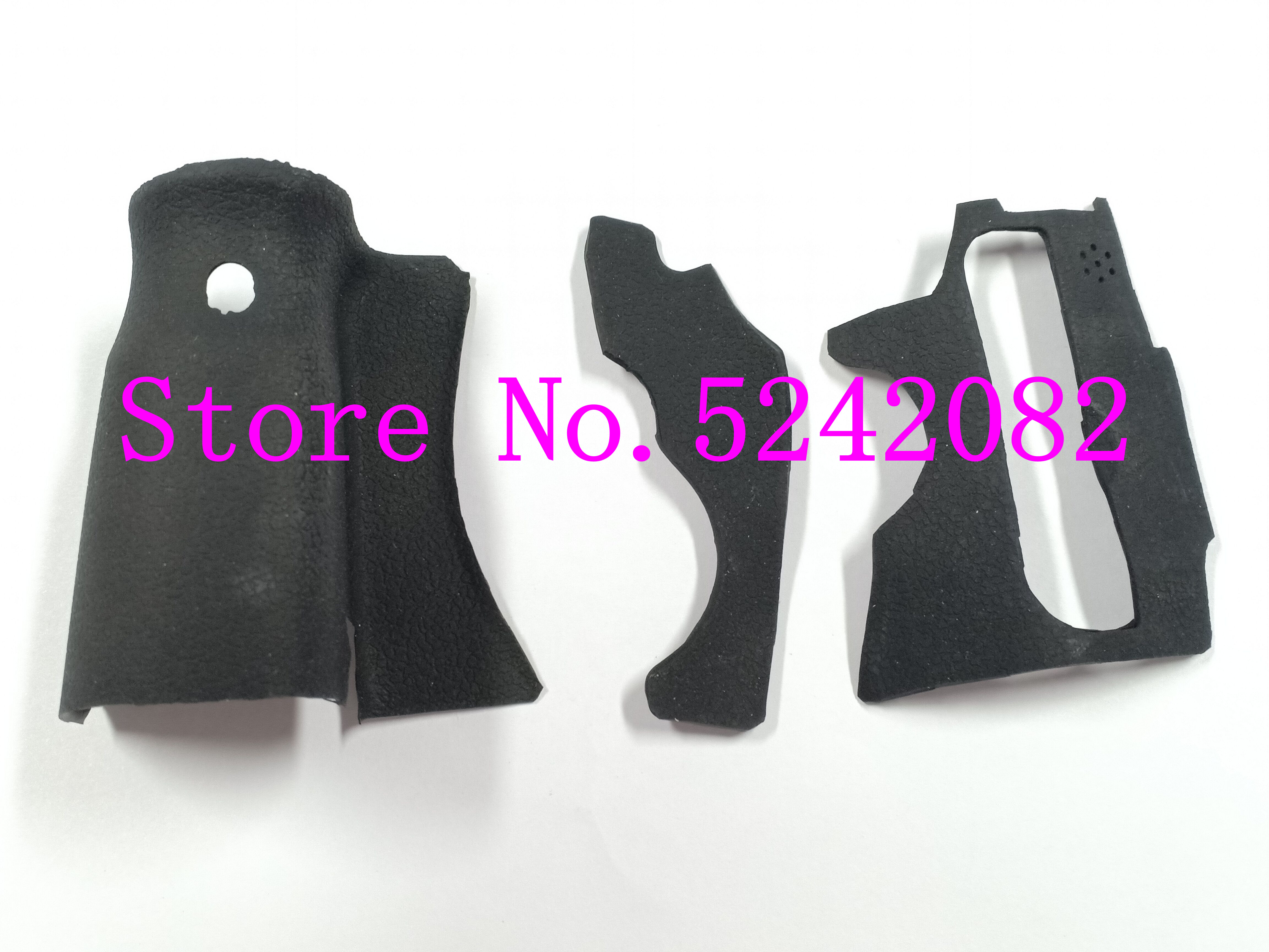 New A Set Of 3 Pieces Grip Rubber Unit For Canon 60D DSLR Rubber Replacement