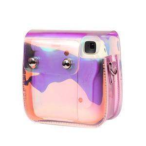 Image 3 - كاميرا Fujifilm Instax Mini 9 8 حافظة حقيبة شفافة مجسمة ليزر كاميرا فورية حزام الكتف حقيبة حامي غطاء الحقيبة