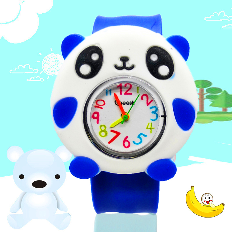 Panda Pattern Children's Watch Cartoon Silicone Strap Fashion Kids Watches Chidlren Quartz Wristwatch Boys Girls Students Clock