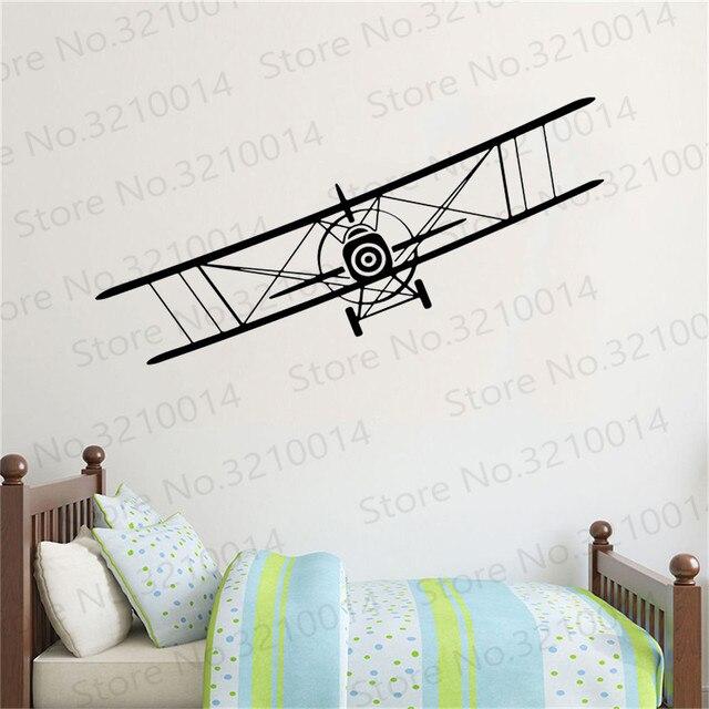 Мультфильм наклейка на стену самолет Спальня детской комнаты