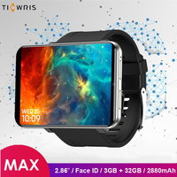 ​Ticwris Max 4G Watch Phone 2.86 inch Face ID 2880mAh 3GB RAM 32GB ROM IP67 Waterproof Android Smart Watch 8.0MP for iOS Android