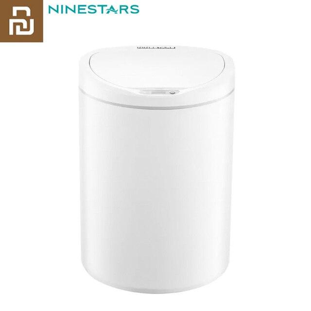 Original Youpin NINESTARS Smart Trash Can Motion Sensor Auto Sealing LED Induction Cover Trash 7/10L Home Ashcan Bins
