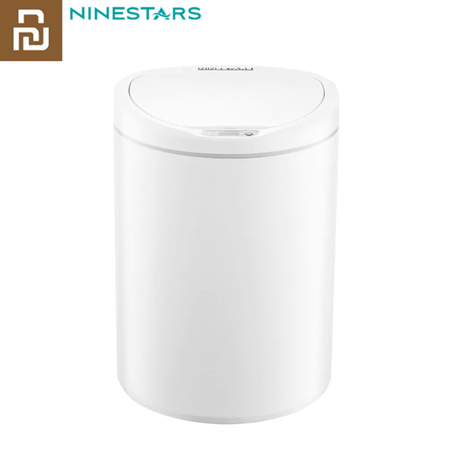 Originele Youpin Ninestars Smart Prullenbak Motion Sensor Auto Afdichting Led Inductie Cover Trash 7/10L Thuis Ashcan Bins