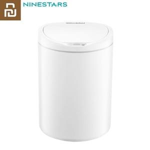 Image 1 - Оригинальный умный мусорный бак Youpin NINESTARS, датчик движения, автоматическое запечатывание, светодиодный, индукционный, мусорный бак 7/10 л, мусорные баки для дома