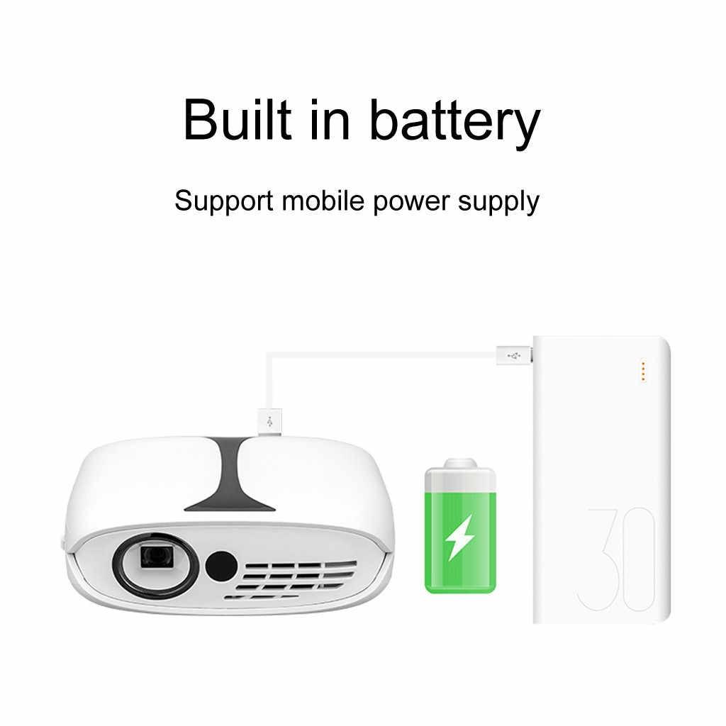 En çok satan 2019 ürünleri Mini projektör taşınabilir renk HDMI USB AV arayüzleri ve uzaktan kumanda destek dropshipping