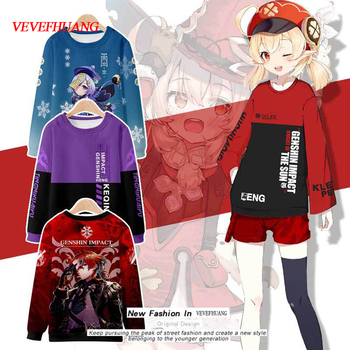 VEVEFHUANG Kосплей Genshin Impact 3D Cosplay Hoodies Sweatshirts Print Causal Anime Pullovers Tracksuit Sports Jacket Project 1
