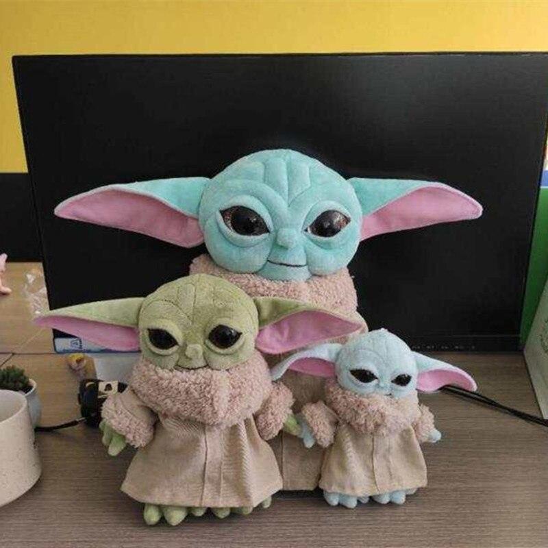 Baby Yoda Plüsch Gefüllte Spielzeugpuppe Mandalorianische Kraft Weckt Geschenk
