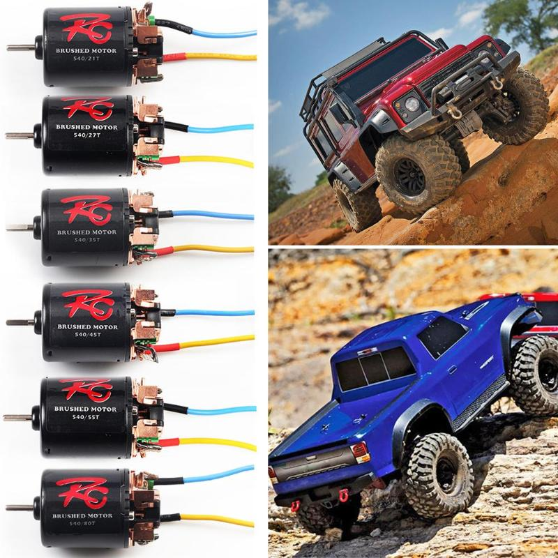 Brush Motor with Line Black Suitable for 1/10 Climbing Car 540 21 <font><b>T</b></font>/27 <font><b>T</b></font>/35 <font><b>T</b></font>/45 <font><b>T</b></font>/<font><b>55</b></font> <font><b>T</b></font>/80T Precisely Balanced Rotor Smoothness image