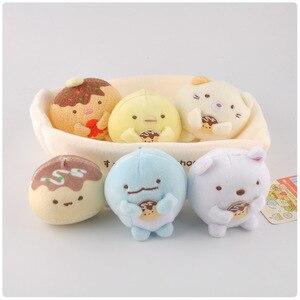 Image 4 - 1 セットかわいい日本sumikko gurashiコーナーバイオぬいぐるみキーチェーンペンダントソフト漫画コーナークリーチャーぬいぐるみ動物のおもちゃの人形